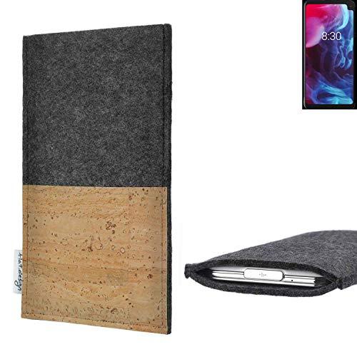 flat.design vegane Handy Hülle Evora für Archos Oxygen 63XL Kartenfach Kork Schutz Tasche handgemacht fair vegan