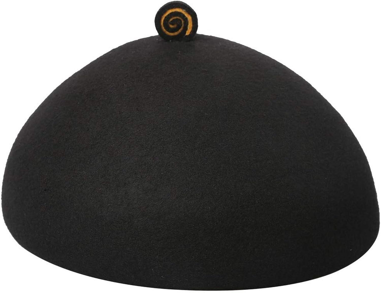 b26bf00f7 Hat Cute Wool Felt Ribbon Winter Floppy Hats Berets for (color Black ...