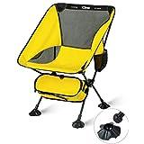 iClimb アウトドア チェア コンパクト 折りたたみいす キャンプチェア キャンプ用 椅子 ローチェア キャンプ 椅子 超軽量 7075アルミニウム合金 耐荷重145KG 収納袋付き キャンプ お釣り 登山 ハイキングなどに最適