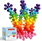 Clip Connect 100 Pieces | Diameter of 1.5 Inches | Interlocking Solid Plastic Building Blocks Discs Set STEM Educational Toy for Preschool Kids Boys and Girls | Safe Material for Kids
