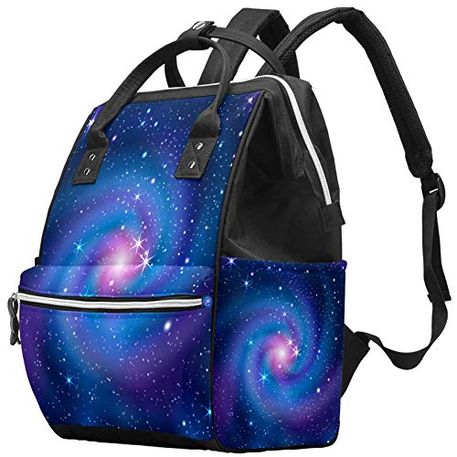 Maman Sac à Langer Sac à Dos Galaxy Star Sky Multifonction Imperméable à l'eau Sac à Dos de Voyage pour Soins de Bébé