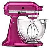 KitchenAid 5-Qt. Artisan Design Series with Glass Bowl - Raspberry Ice