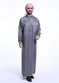 DAIDAICP Turkish Kaftan Men Dubai Arabic Jubba Thobe Male Muslim Costumes Plus Size Maxi Robe