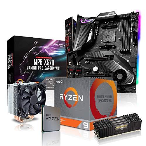 dcl24.de PC Aufrüstkit [11809] AMD 9-3900X 12x3.8 GHz - 32GB DDR4 3600MHz, X570-GPC Mainboard Bundle Kit, ohne onBoard Grafik, eigenständige Grafikkarte notwendig
