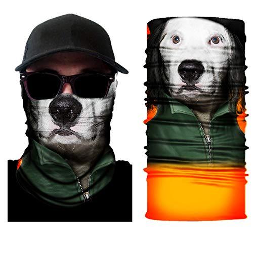 10 Stück Atemschutz Mundschutz, Unisex Damen Männer Lustig 3D Druck Motorrad Face Shield Sturmhaube, für Motorrad Fahrrad Ski Paintball Gamer Karneval Kostüm 3D,11