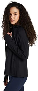 Rockwear Activewear Women's Ribbed Panel Rwx Hooded Jacket Black 14 from Size 4-18 Jackets + Vests for Tops