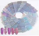24 Fogli / 144 Pezzi Stencil per Vinili per Unghie, Adesivo per unghie fai da te,Nail Art Design Adesivi Facile Unghie Arte.