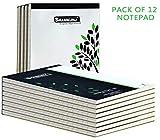 SHAM KUNJ Writing Notepad,Single Line Ruled,Soft Front & Hard Back Cover, 80 Sheets,