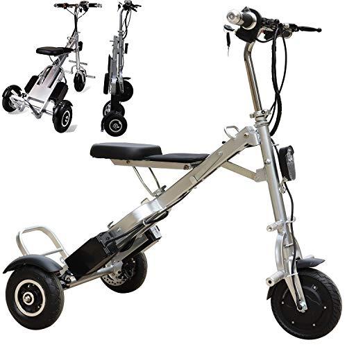 Bicicleta Eléctrica Plegable para Adultos, Peso Ligera Ebike Triciclos Patinetes Bici Eléctricos...