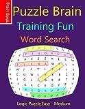 Puzzle BrainTraining Fun  Word Search: Logic Games ( Word Search Puzzles)(Large-Print Puzzles) [Idioma Inglés]