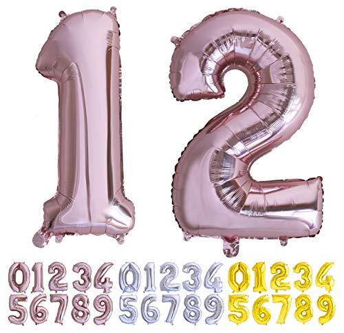 Globo numero 12 o 21 Oro Rosa. Globos Foil Gigante números 1...