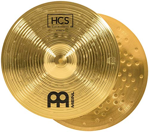Meinl Cymbals HCS 14 Zoll (35,56cm) Hihat Becken für Schlagzeug – Paar – Messing, traditionelles Finish (HCS14H)