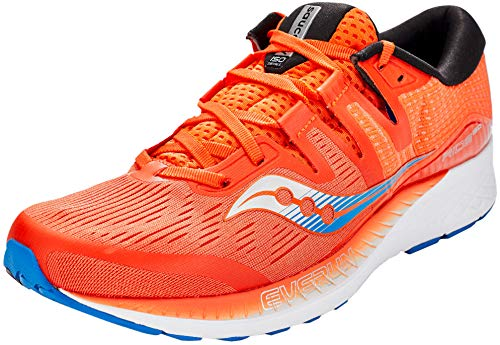 Saucony Herren Ride Iso Laufschuhe, Orange (Orange/Blue 36), 44.5 EU