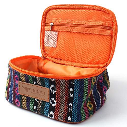Fliyeong Reis Würze Aufbewahrungstasche Spice Organizer Pouch Spice Aufbewahrungstasche Kosmetische Aufbewahrungstasche für Camping Reisen verwenden 1 Stücke