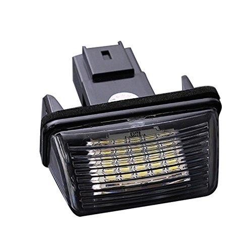Cikuso 2pzs 18 LED SMD Lampara luz de placa de numero de matricula para Peugeot 206 Citroen C3 C4 5 Xsara 1997-2006