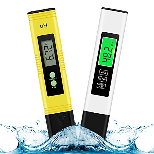 TDS & PH Meter , High Accuracy Water Quality Tester ,0.01ph High Accuracy 0-14 PH Measurement Range/- 2% Readout Accuracy 3-in-1 TDS EC Temperature Meter,Digital ph Meter for Water
