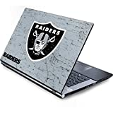 Skinit Decal Laptop Skin for Generic 15in Laptop - Officially Licensed NFL Las Vegas Raiders - Alternate Distressed Design