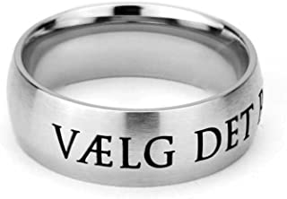 LDS CTR Ring - Danish Choose the Right Ring - Wide Band