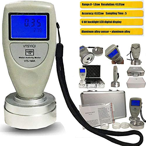 VTSYIQI Water Activity Meter Food AW Tester Monitor Water...