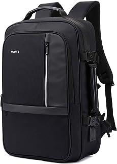 WAWJ Convertible Antirrobo Mochila de Viaje Estilo Business Escolar 35L Negro Mochila Antirrobo de Maleta Viaje por 173 Pulgada Cuaderno (01)
