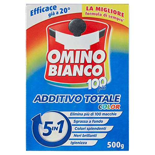 Omino Bianco Additivo Lavatrice Totale Color 5 in 1, in Polvere, 1 Confezione x 500 g
