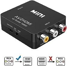 RCA auf HDMI Adapter AV auf HDMI Konverter AV zu HDMI Adapter Unterstützung 1080P mit..