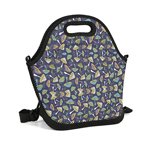 DFGDGFHHF Lunch Box Bag Tote Thermos Outdoor Gift Best Printing Nice-Mushroom-