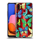 Head Case Designs Officially Licensed by Emoji Green and Blue Butterflies Soft Gel Case Compatible with Samsung Galaxy A20s (2019)