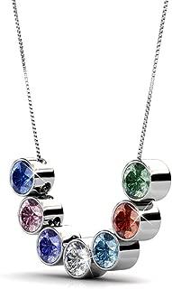 Women's Swarovski Elements 18K Pendant Necklace 7 Colors Pendant Valentine's Gift with Box