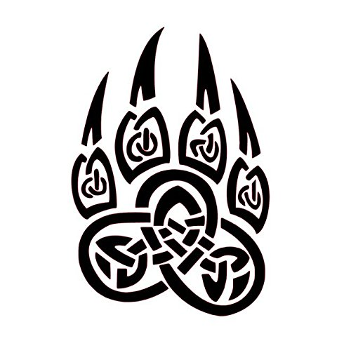 Celtic Bear Paw Vinyl Decal, Celtic Wall Art, Celtic Knot Stickers, Celtic Knot Decals