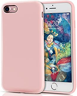 MILPROX Compatible iPhone 8, Compatible iPhone 7, Liquid Silicone with Microfiber Cloth iPhone 8 Case/iPhone 7 Case - Pink
