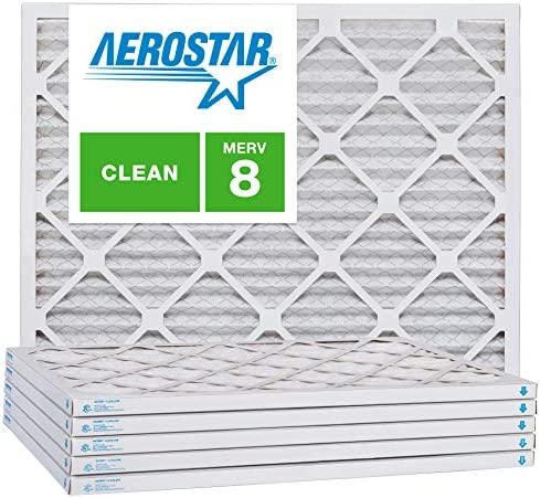 Aerostar 21 1 2x23 1 2x1 MERV 8 Pleated Air Filter 21 1 2 x 23 1 2 x 1 Box of 6 Made in The product image