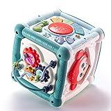 Hktec Motorikwürfel Multifunktionale Sortier Aktivitätenbox Babyspielzeug Wiederaufladbares 15,5...