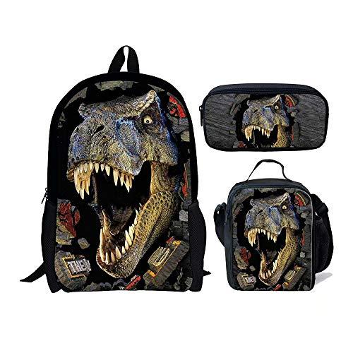 Chaqlin Juego de 3 bolsas escolares para niños  mochila con de almuerzo  para lápices
