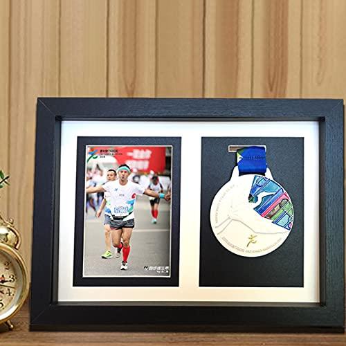 FTHH Caja de presentación de medallas,Medalla del colector,Medalla de Deportes Cuadro en 3D Marcos de Fotos,Vitrina del gabinete de la Caja de la Sombra para Las medallas Militares