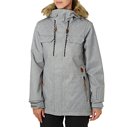 Volcom Damen Shadow Insulated 2 Layer Shell Snow Jacket Isolierte Jacke, grau meliert, Mittel