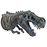 Design Toscano Bones of The Dinosaur T-Rex Skeleton Wall Sculpture, 16.5 Inches, Full Color