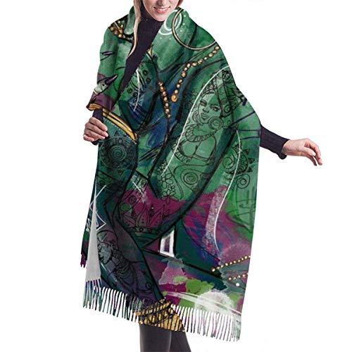 Afro Black King - Bufanda de cachemira para mujer y hombre, ligera, unisex, estilo suave, para invierno