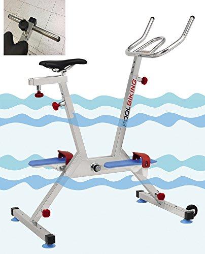 POOLBIKING ONE PLUS + barra multiejercicios, aquabike, aquabiking, Bicicletta per spinning aquático.