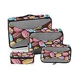 DEZIRO cubos de embalaje coloridos macarons 4 piezas organizador de viaje...
