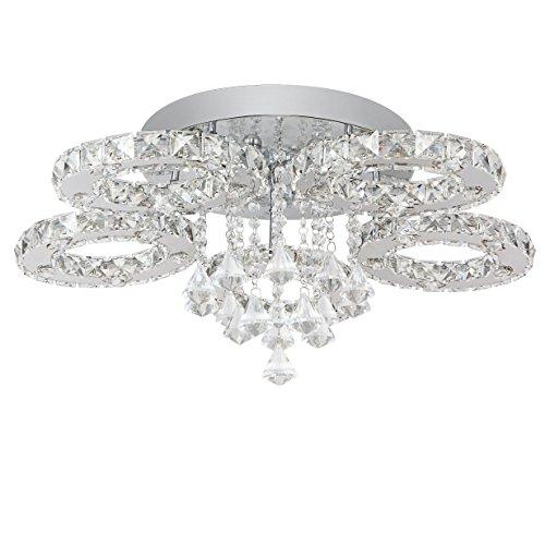 SAILUN® 76W LED Kaltweiß Deckenleuchte 5/6-flammig Kristall Deckenlampe Flur Wohnzimmer Lampe Schlafzimmer Küche Energie Sparen Licht Wandleuchte