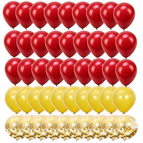 50 Piezas Globo Dorado Metalizado Globos de Lentejuelas de Boda Globo de LáTex con Lentejuela Globo Rojo Granada para la DecoracióN de la Fiesta de CumpleañOs Globos de Helio Bautismo de JardíN Globo