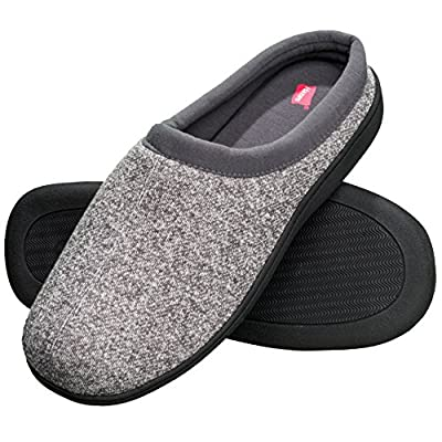 Hanes Men's Memory Foam Indoor Outdoor Clog Slipper Shoe with Fresh IQ (Mens XX Large (12.5-13.5), Grey Clog)