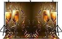 新しい5x3ft新年あけましておめでとうございます写真背景フェスティバルパーティースパークリングシャンパンボケハロー背景家の装飾バナー写真スタジオ小道具267