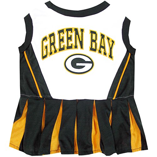 Green Bay Packers NFL Cheerleader Dress For Dogs - Size Small