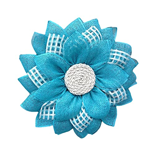 Wall Hanging Fabric Garland Wreath, Decorative Plastic Home Fabric Wreath For Mother's Day