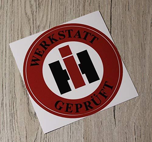 IHC Aufkleber WERKSTATT GEPRÜFT Traktor International Logo Emblem Sticker