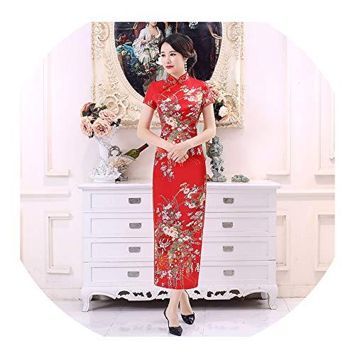 Kleine schattige winkel Vrouw Chinese Cheongsams Traditionele Bruidsjurk Split Lange Robe Bloemen Appliques Split Vrouwen Bodycon Jurk