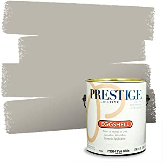 PRESTIGE Paints Interior Paint and Primer In One, 1-Gallon, Eggshell, Comparable Match of Sherwin Williams* Mindful Gray*