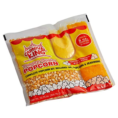 Fantastic Prices! Carnival King All-In-One Popcorn Kit for 8-10 Ounce Poppers - 48 (2 24/Case)